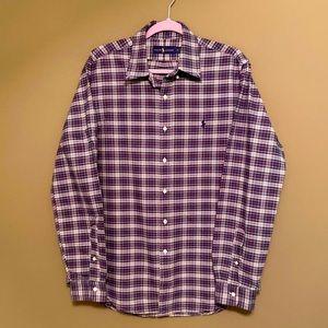 Ralph Lauren Classic Plaid  button down shirt L
